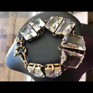 💝Dazzling JCrew Geo Crystal Faceted Bracelet💝